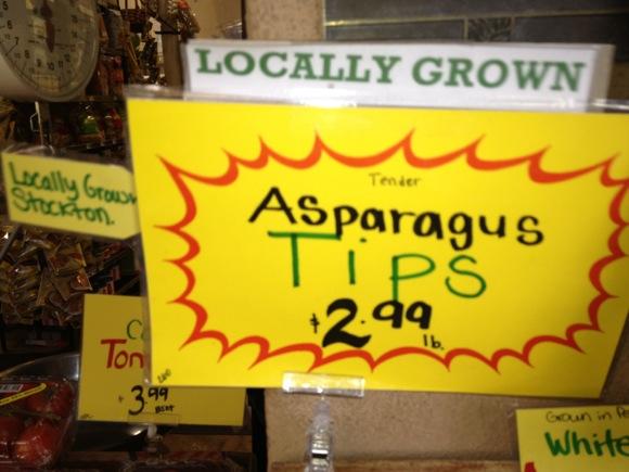 Stockton grown asparagus