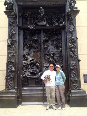 D and Maggie and L at Rodin door