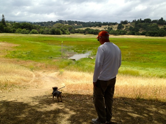 D and Maggie at Lake Lagunita