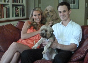 Holly and Jack with dogs