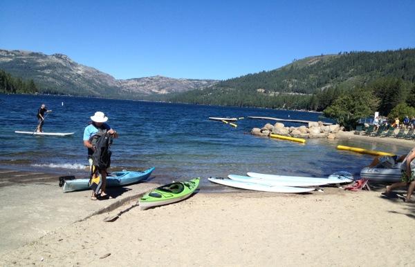 paddling at Donner Lake