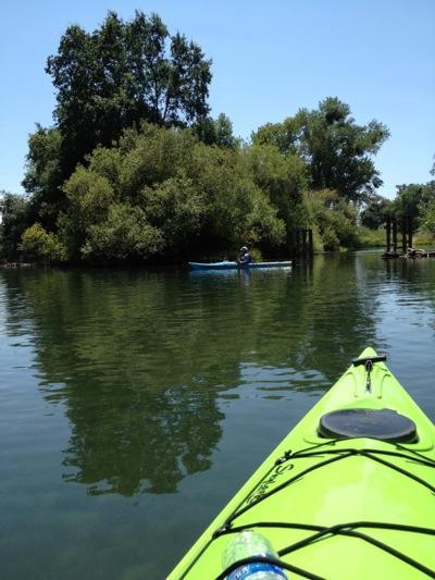 paddling on Mokelumne River