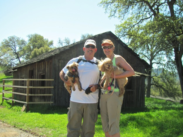 D and L and dogs at Cronan Ranch