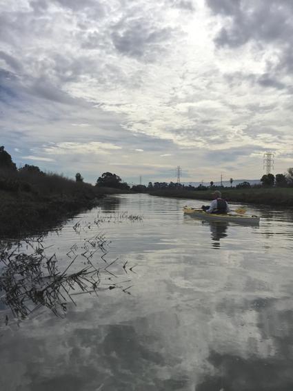 D kayaking on San Francisquito Creek