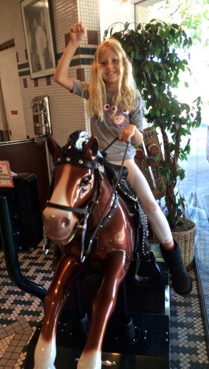 Grace riding horse