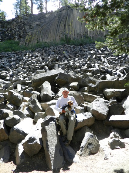 D and the Mag at Devil's Postpile
