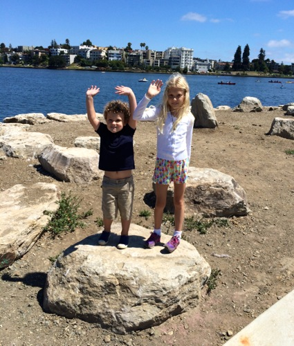 James and Grace on Lake Merrit
