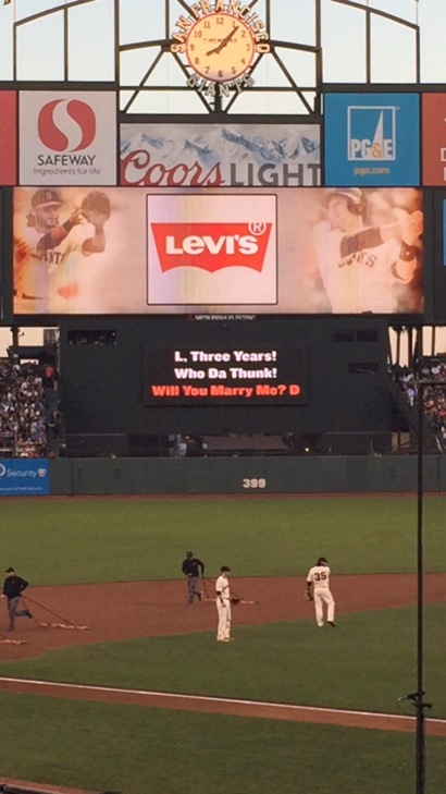 Will you Marry me at Giants game