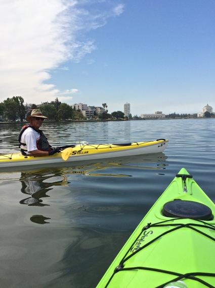 D kayaking on Lake Merritt
