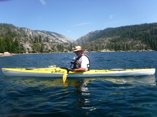 D paddling on Pinecrest Lake_081915