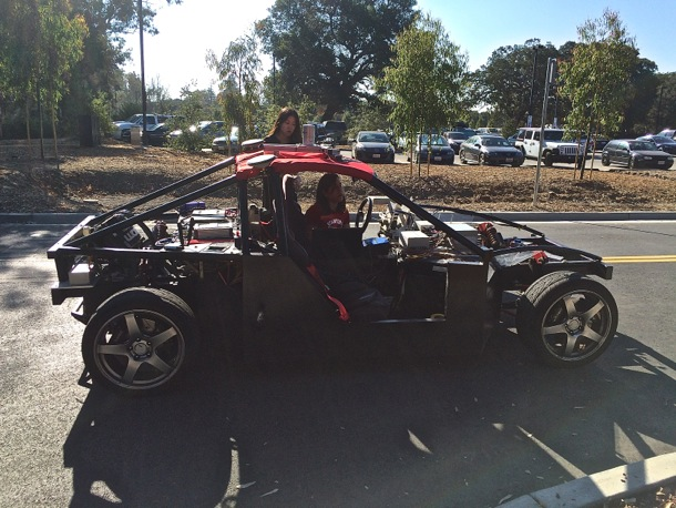 driverless car on Stanford campus