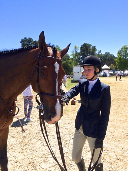 Girl and horse at Menlo Charity Horse Show1
