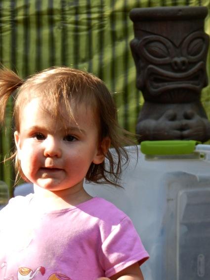 Lily near Tiki