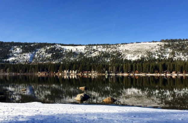 Looking across Donner Lake
