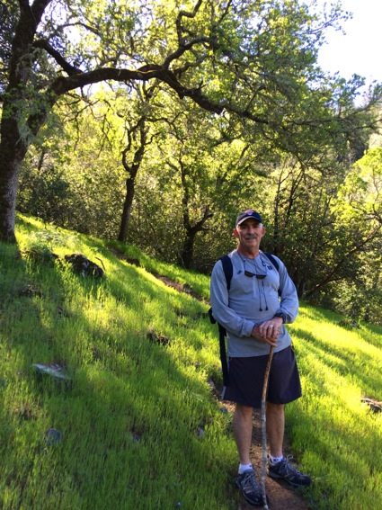 D hiking at Calistoga Ranch