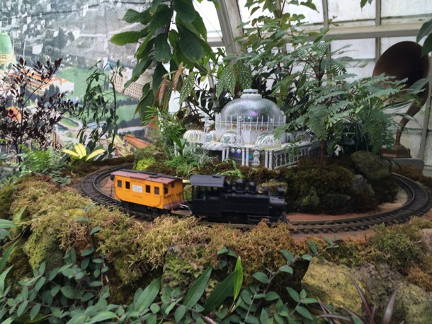 train show at Conservatory of Flowers