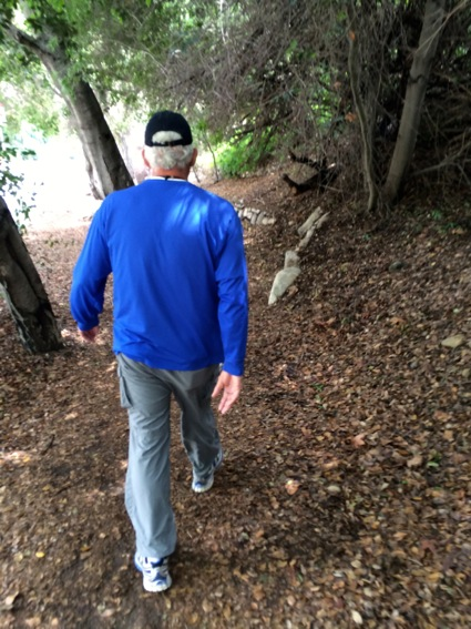 D on trail near Rose Bowl