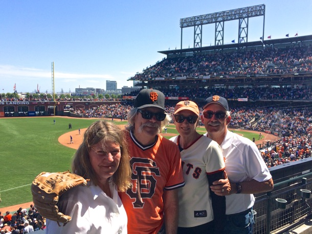 D and L with Rob and Nancy at Giants game
