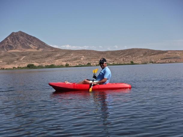 D kayaking on Lake Las Vegas