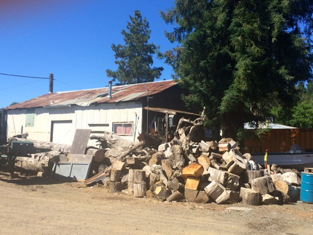 business in downtown Redwood Valley
