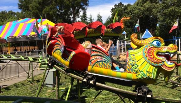Grace on Nativity roller coaster