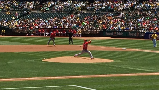 Linsecum pitching againts As