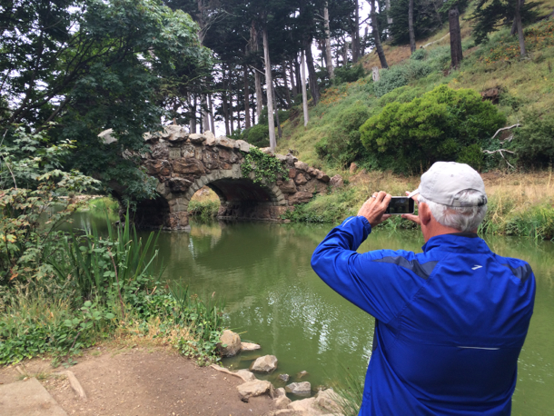 D photographs old bridge at Stow Lake1