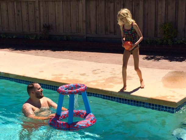 Grace and the Beaz_pool fun