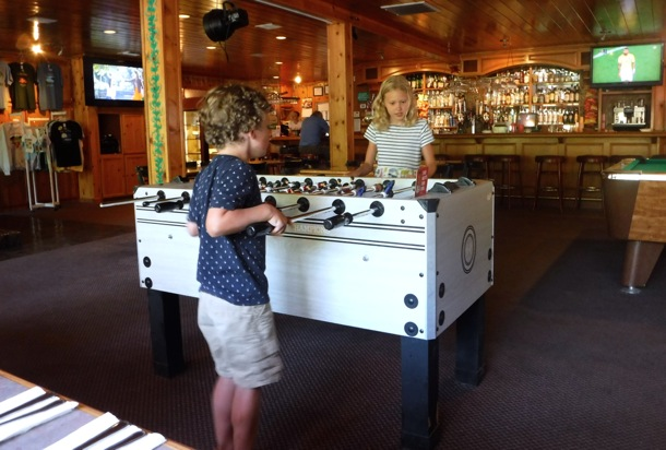 Foosball fun at Strawberry Inn