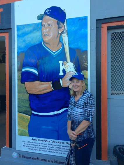 L with George Brett