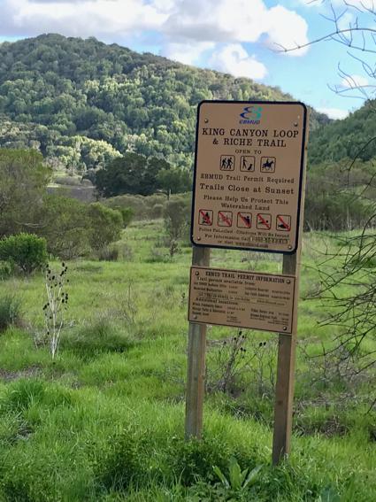 King trail loop in Moraga - 1