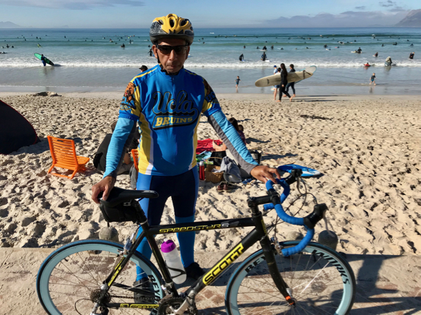 cyclist with Bruin shirt - 1