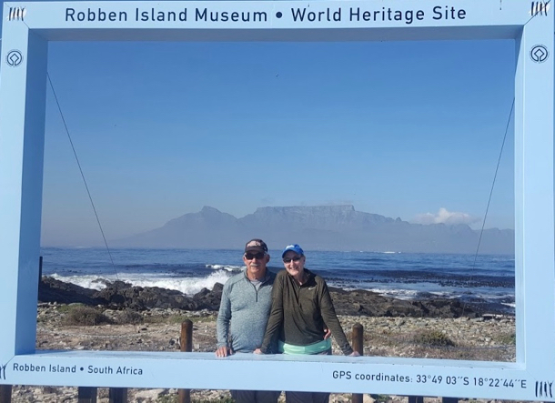 D and L on Robben Island - 1
