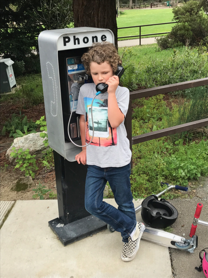 James on the pay phone - 1