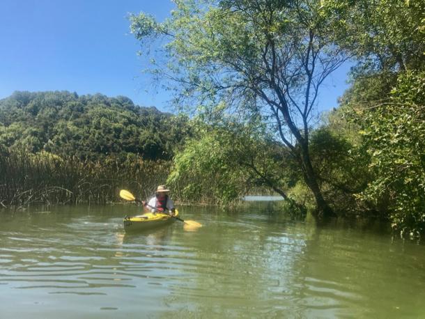 D paddling at Lake Chabot - 1
