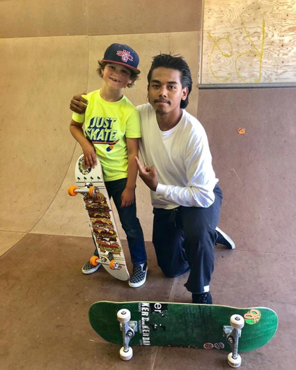 James with skate board instructor - 1