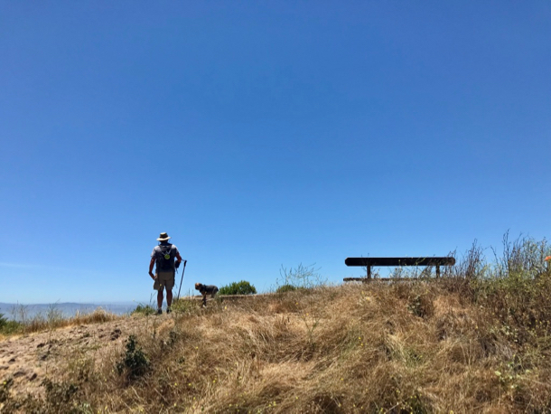 Mag and D on ridge top at Tilden_vert - 1