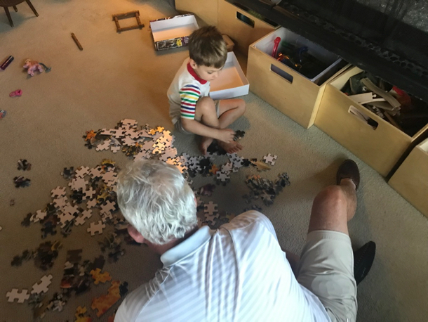 B and Kai with puzzle - 1