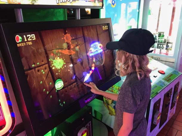 Grace at arcade - 1