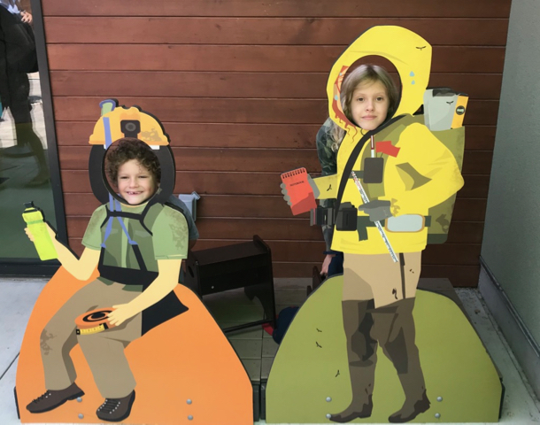 James and Grace as zoo explorers - 1