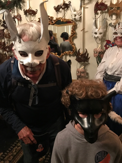 D and James in masks - 1