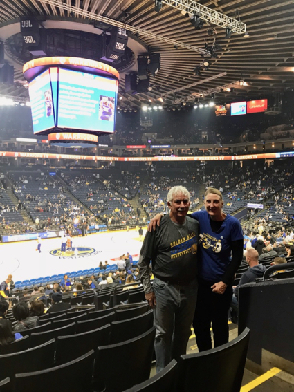 D and L at Warriors game - 1