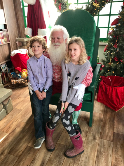 James and Grace at Santa - 1