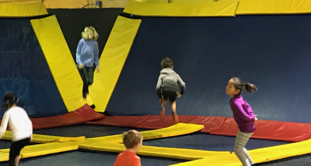 on trampolines - 1