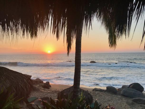 sunset at playa escondida - 1