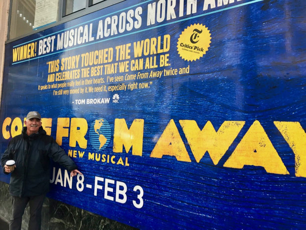 D in front of Come From Away - 1