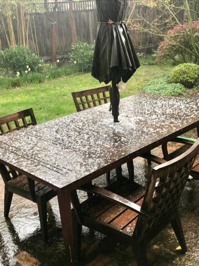 hail on patio - 1